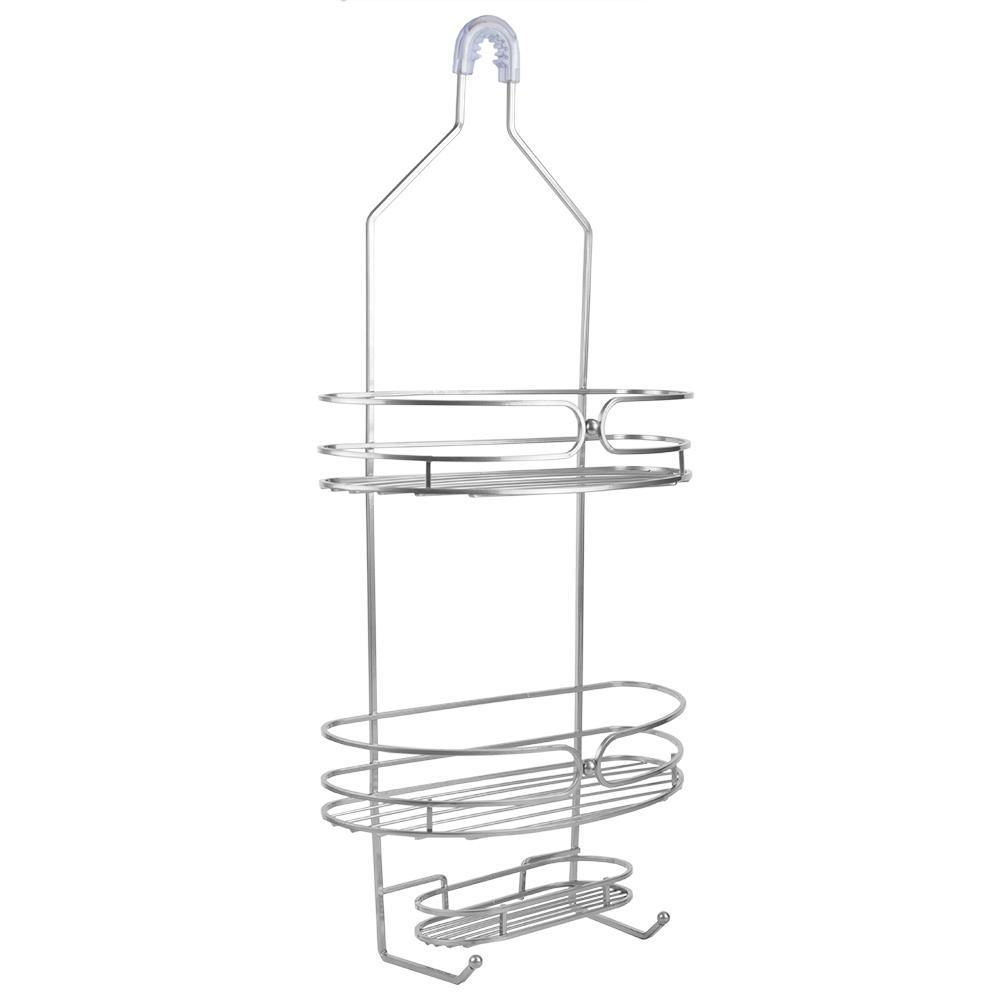 Union 2-Shelf Shower Caddy in Silver