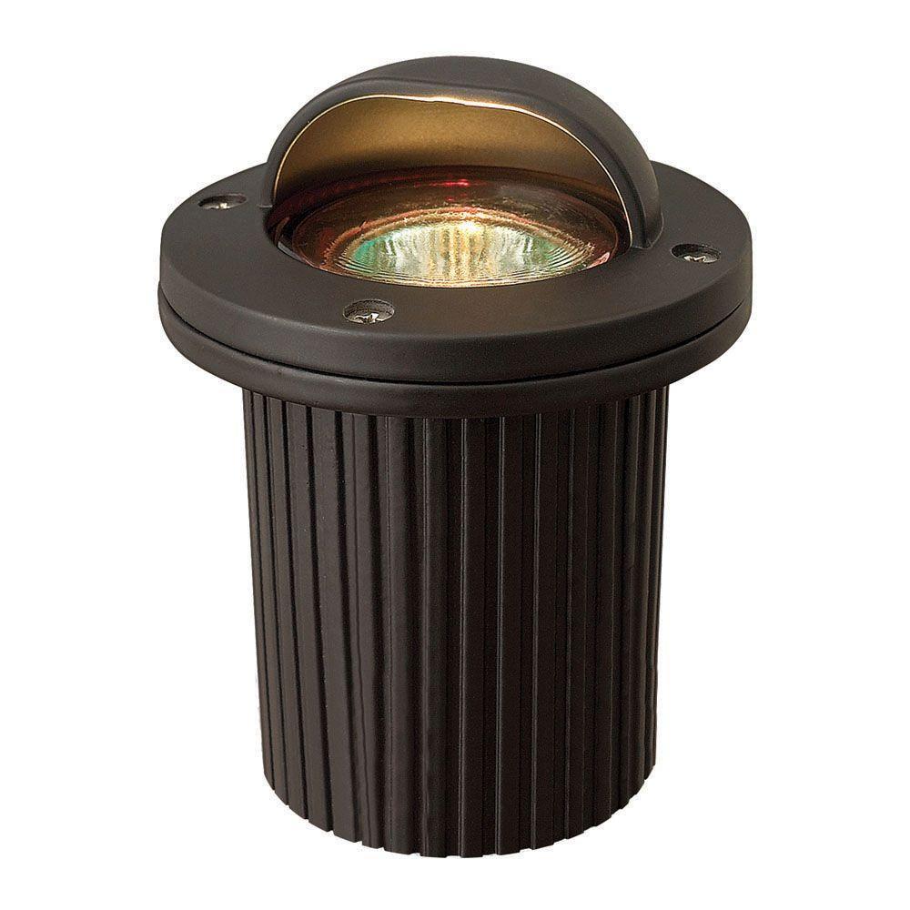 Hinkley Lighting Low-Voltage 50-Watt Bronze Cast Aluminum MR16 Shielded Well Light