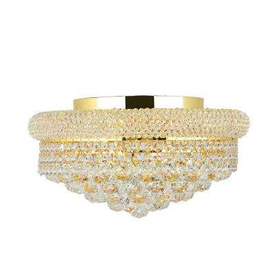 Empire Collection 8-Light Gold and Crystal Flushmount