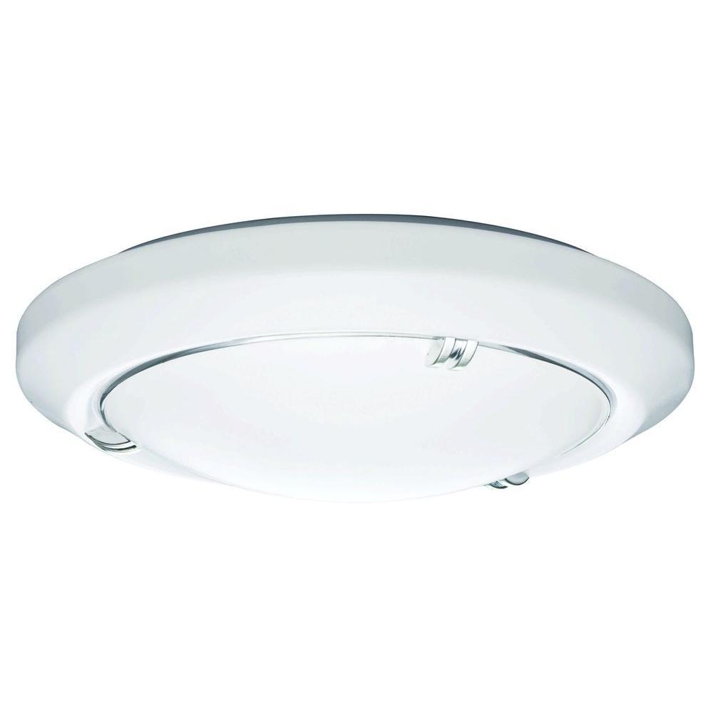 Lithonia Vela 1-Light White Ceiling Flushmount