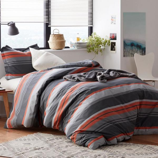 The Company Store Jesse 3-Piece 200-Thread Count Cotton Percale Queen Duvet
