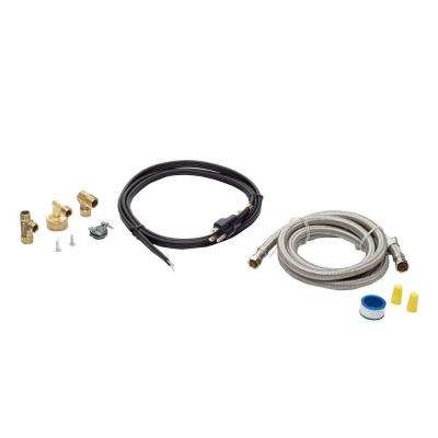 6 ft. Stainless Steel Dishwasher Installation Kit with Straight Cord