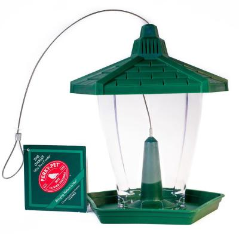 The Chalet Plastic Hanging Bird Feeder - 1.25 lb. Capacity