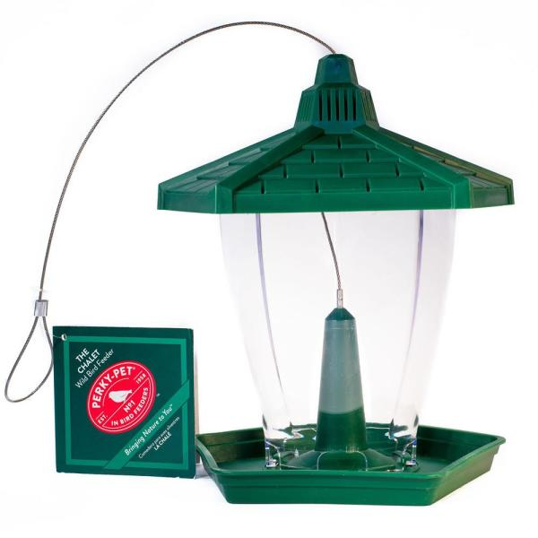 The Chalet Plastic Hanging Bird Feeder - 1.25 lb. Capacity