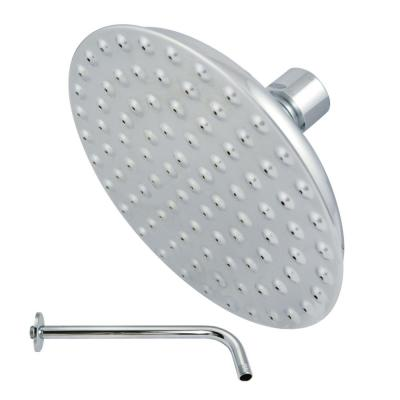1-Spray 5.3 in. Single Wall Mount  Fixed Rain Shower Head in Polished Chrome