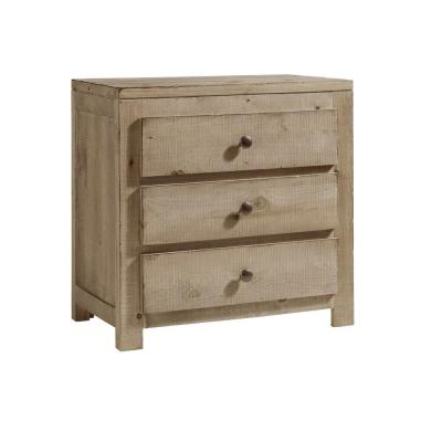 Wheaton 3 Drawer Natural Nightstand