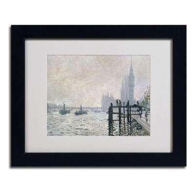 11 in. x 14 in. The Thames Below Westminster Matted Black Framed Wall Art