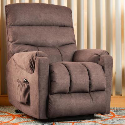 Recliner Brown Electric Power Liftwith Side Pocket