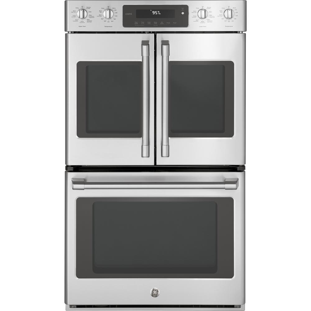 Cafe 30 in. Double Electric Wall Oven Self-Cleaning with Convection in
