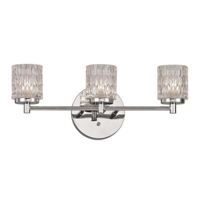 Bayou 3-Light Polished Chrome Vanity-Light