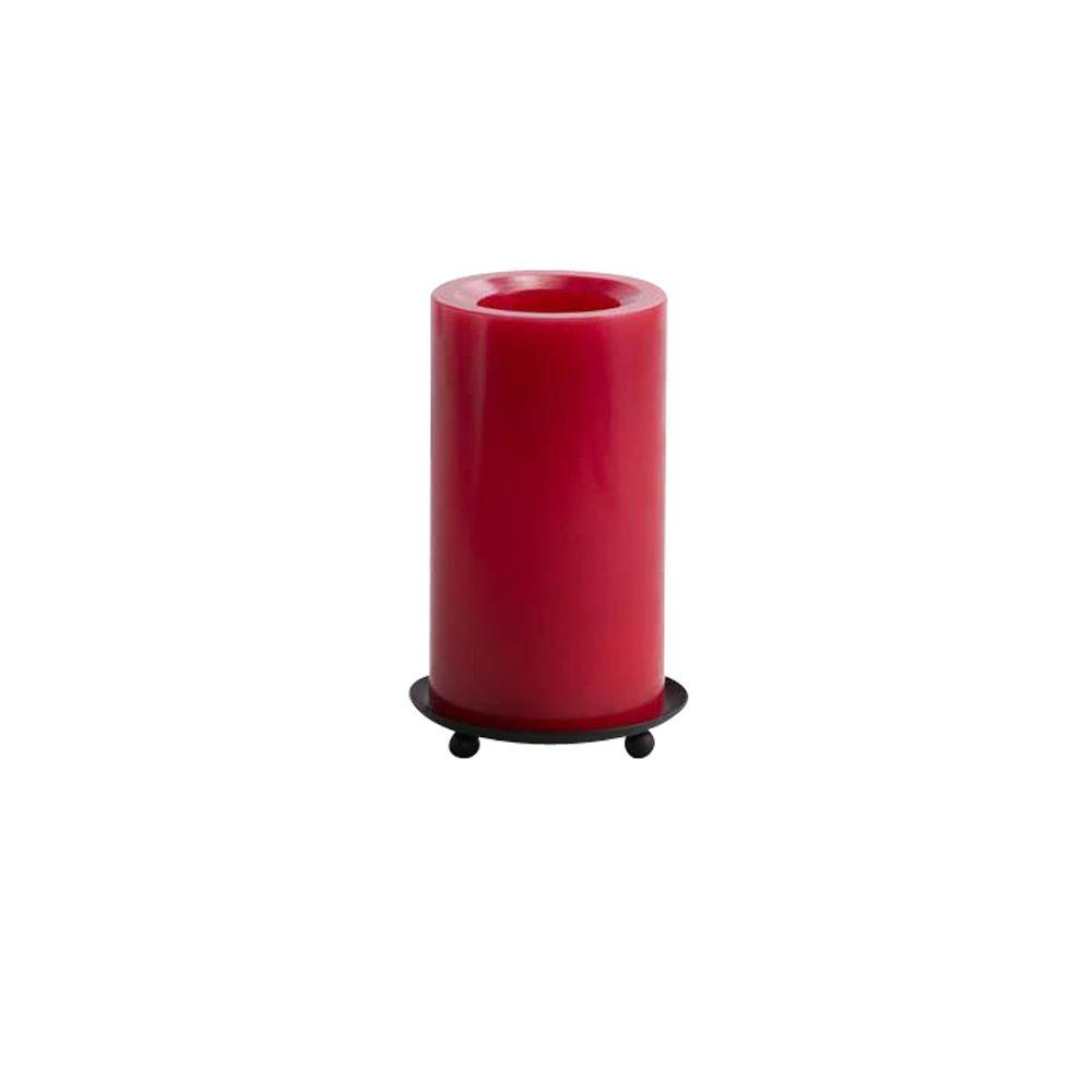 Home Decorators Collection Smooth Red 6 in. H Flameless Pillar Candle