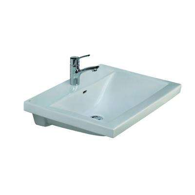 Mistral 650 Wall-Hung Bathroom Sink in White