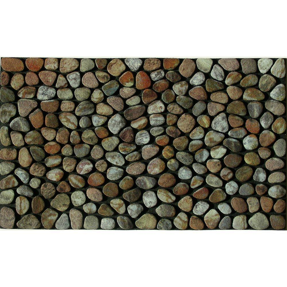 Apache Mills Pebble Beach 18 In. X 30 In. Recycled Rubber Door Mat