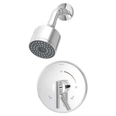 Dia Single-Handle Shower Valve Trim Kit With Secondary Volume Control Lever in Chrome (Valve Not Included)