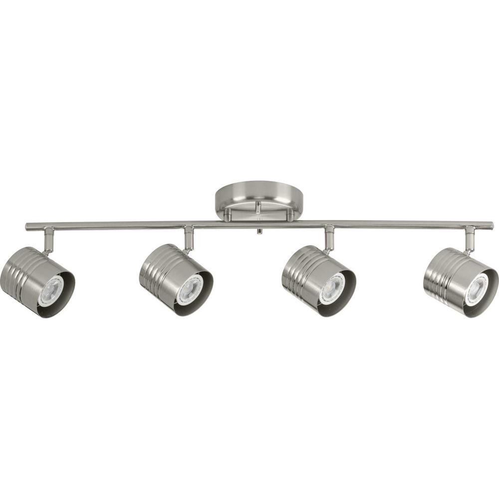 Kitson 4-Light Brushed Nickel Halogen Track Lighting Head