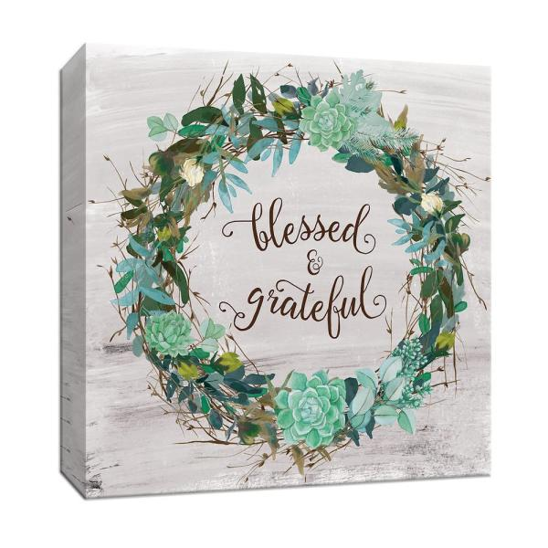 6c01b408131 PTM Images 15 in. x 15 in. ''Blessed and Grateful'' Canvas Wall Art ...