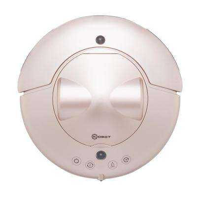 Cyclone Series Robot Vacuum for Pet Hairs, Area Rugs and Carpets in Champagne