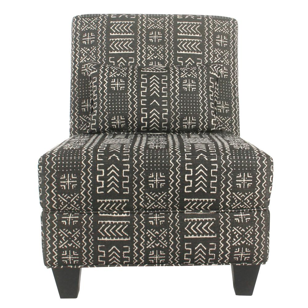 Homepop Blue And Cream Slate Large Accent Chair With
