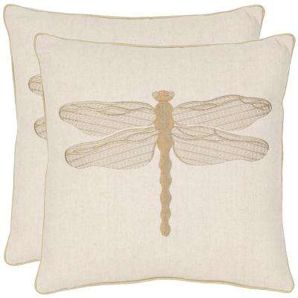 Azure Damselfly Coastal Pillow (2-Pack)