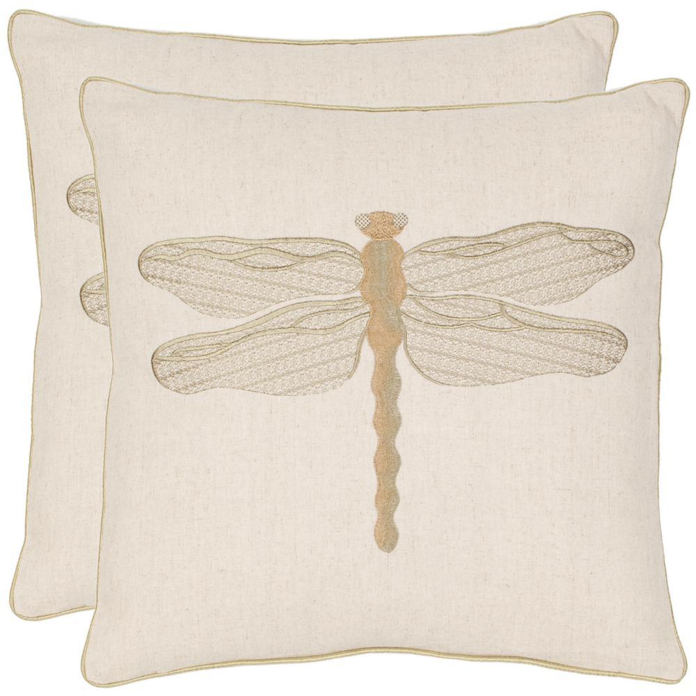 Azure Damselfly Coastal Down Alternative Standard Throw Pillow (Set of 2)