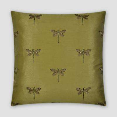 Volare Green Feather Down 20 in. x 20 in. Standard Decorative Throw Pillow