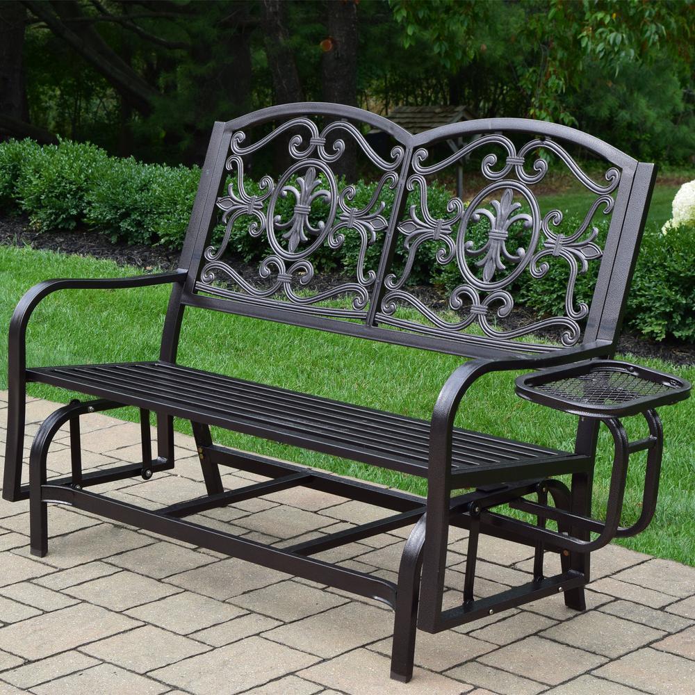 Fantastic Lakeville Metal Outdoor Glider Machost Co Dining Chair Design Ideas Machostcouk