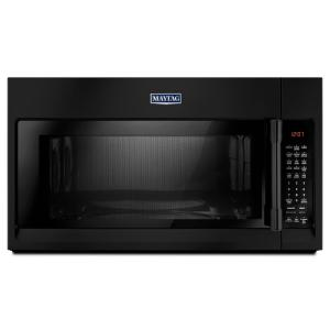 Maytag 30 In W 1 9 Cu Ft Over The Range Convection Microwave Black Mmv6190fb Home Depot