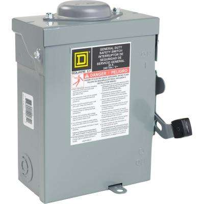30 Amp 240-Volt 2-Pole Outdoor Non-Fused Safety Switch