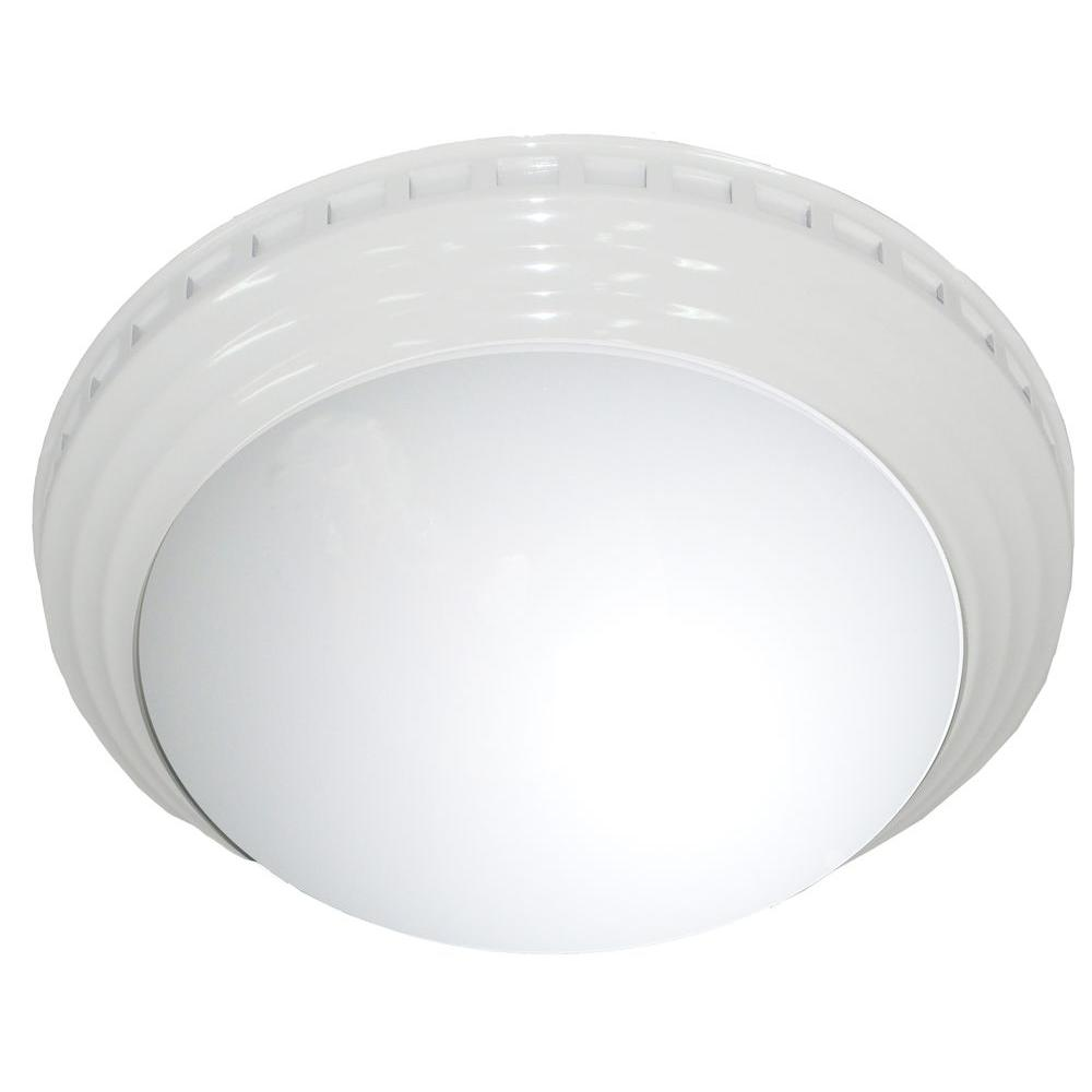 NuVent Decorative White Dome 100 CFM Ceiling Bathroom Exhaust Fan