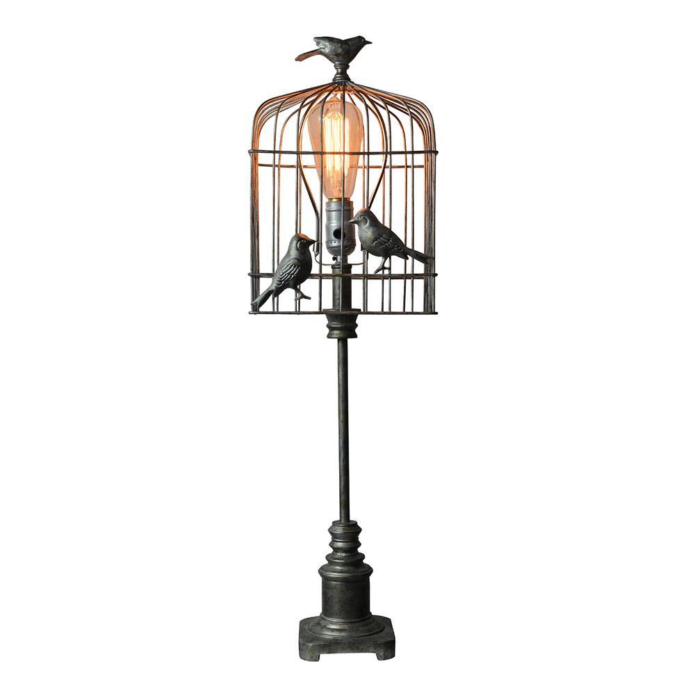 25 in. Black Table Lamp