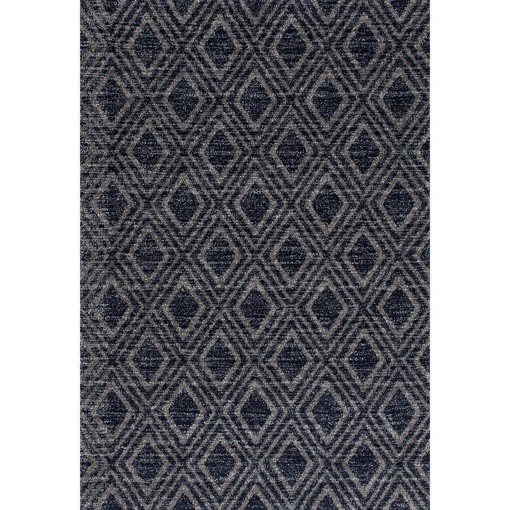 Art Carpet Highline Diamond Grid Gray 5 Ft X 8 Area Rug