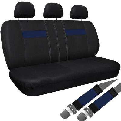 Polyester Bench Seat Cover 26 in. L x 23 in. W x 48 in. H Bench Seat Cover Blue and Black