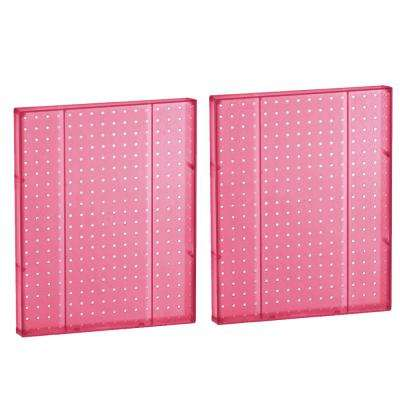20.25 in H x 16 in W Pegboard Pink Styrene One Sided Panel (2-Pieces per Box)