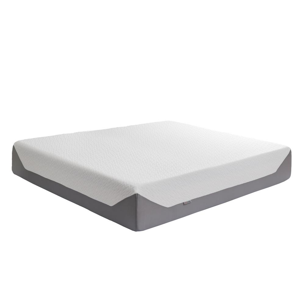 Sleep Collection 14 in. King Medium Firm Memory Foam Mattress