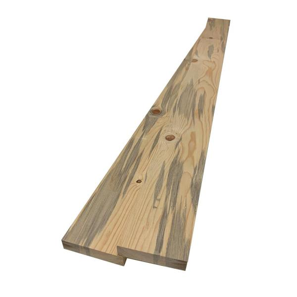 1 in. x 4 in. x 6 ft. # 3 Common Blue Stain Pine S4S Square Board (2-Pack)