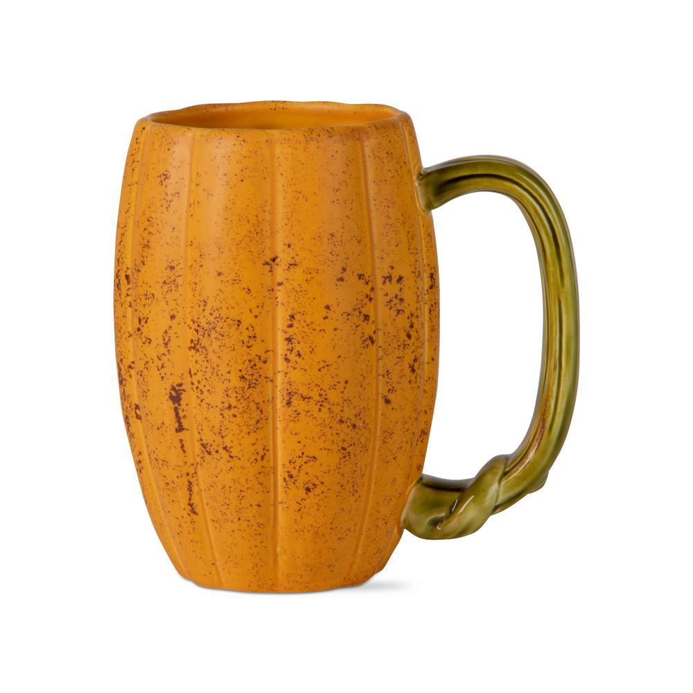 22 oz. Rustic Pumpkin Earthenware Coffee Mug