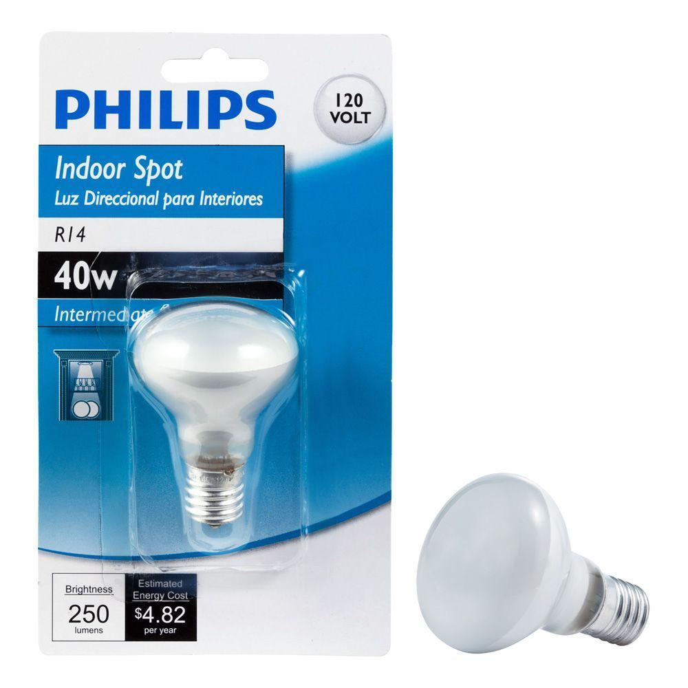 40-Watt R14 Incandescent Intermediate Base Light Bulb Soft White (2700K)