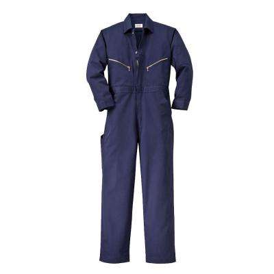 Twill Non-Insulated 36 in. Short Long Sleeve Coverall in Navy