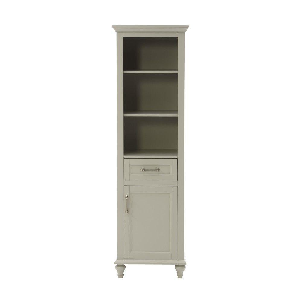 Home Decorators Collection Charleston 20 In. W Bathroom Linen Storage  Cabinet In Grey