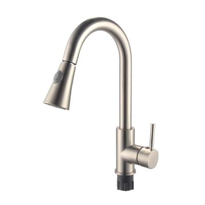 9.06 in. Single-Handle Pull-Down Sprayer Kitchen Faucet in Brushed Nickel