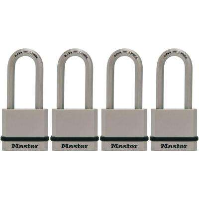 Magnum 1-3/4 in. Solid Steel Padlock with 2 in. Shackle (4-Pack)