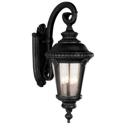 Commons 4-Light Black Outdoor Wall Mount Lantern