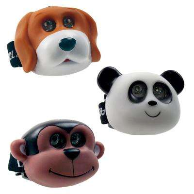 2 AAA Animal Fun Headlight with Adjustable Strap