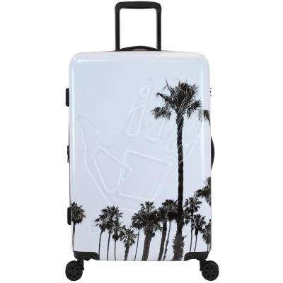 Redondo 29 in. White and Palm Hardside Luggage