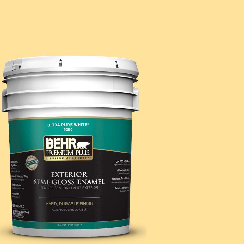 5-gal. #P290-3 Roasted Corn Semi-Gloss Enamel Exterior Paint