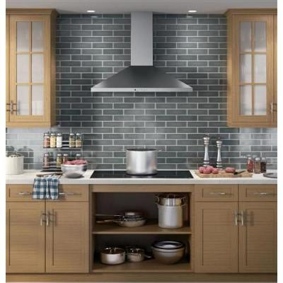 36 in. Convertible Wall-Mount Range Hood with Light in Stainless Steel