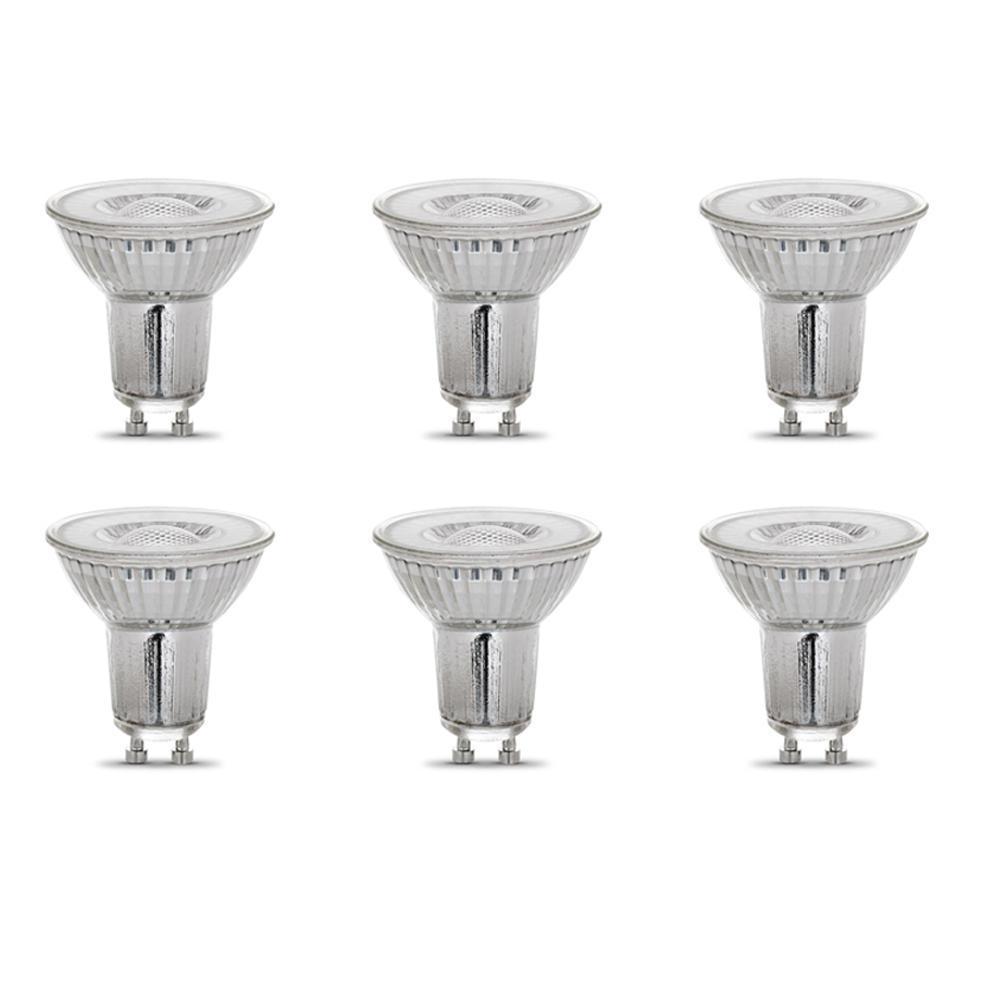 35-Watt Equivalent MR16 GU10 Dimmable CEC Title 24 LED 90+ CRI Flood Light Bulb, Bright White (6-Pack)