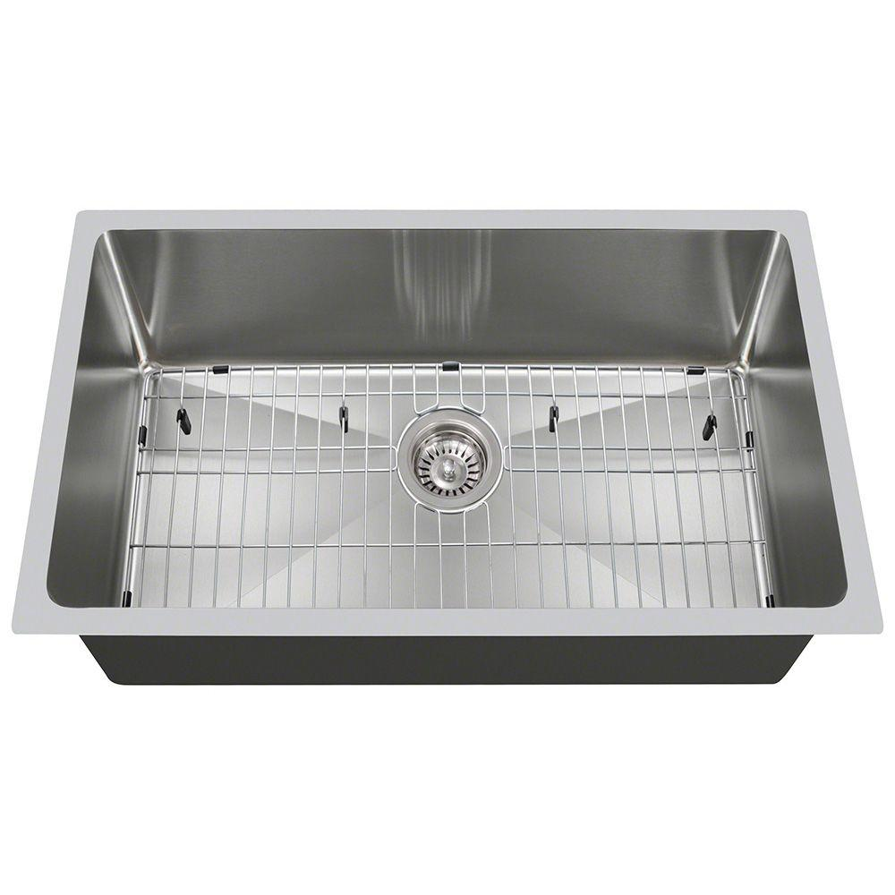 Polaris Sinks All In One Undermount Stainless Steel 31 In