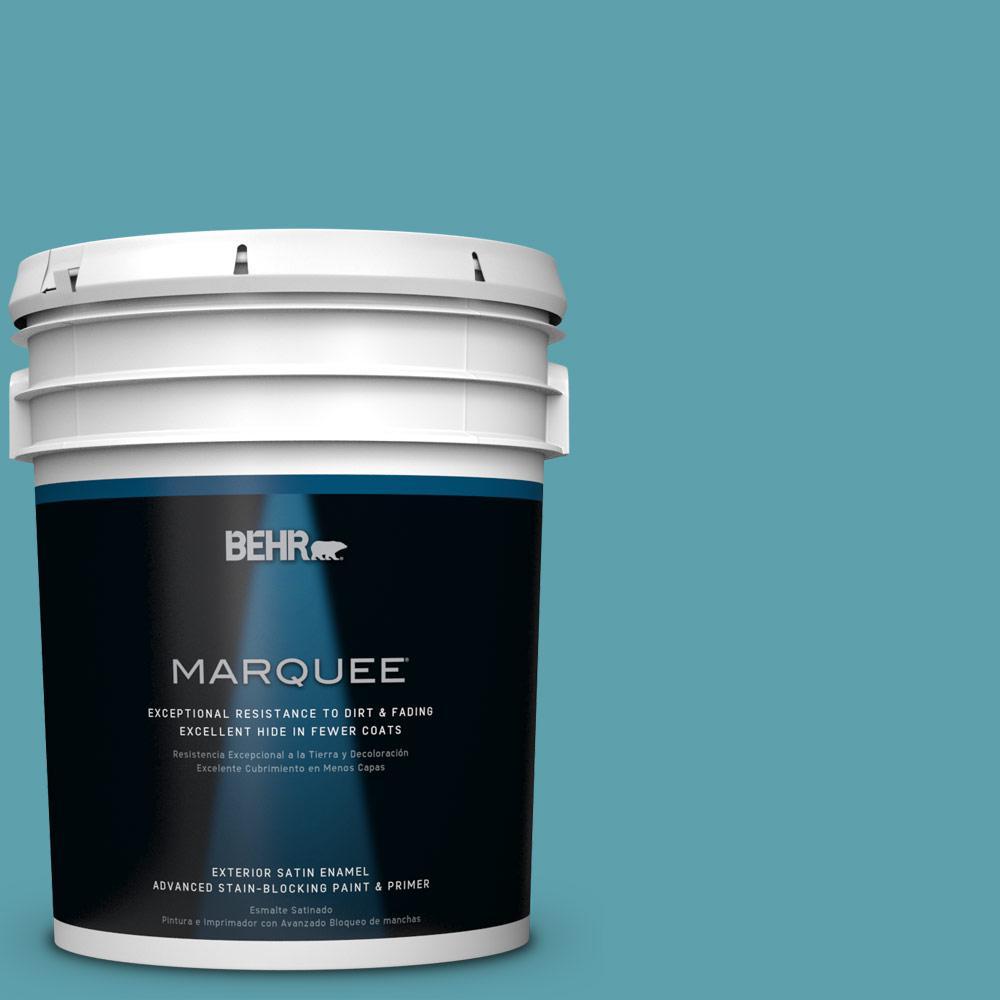 5-gal. #BIC-53 Turquoise Satin Enamel Exterior Paint