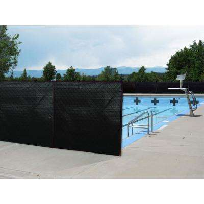 ValueVeil 5 ft. x 50 ft. Black Privacy Fence Screen Netting with Reinforced Grommets